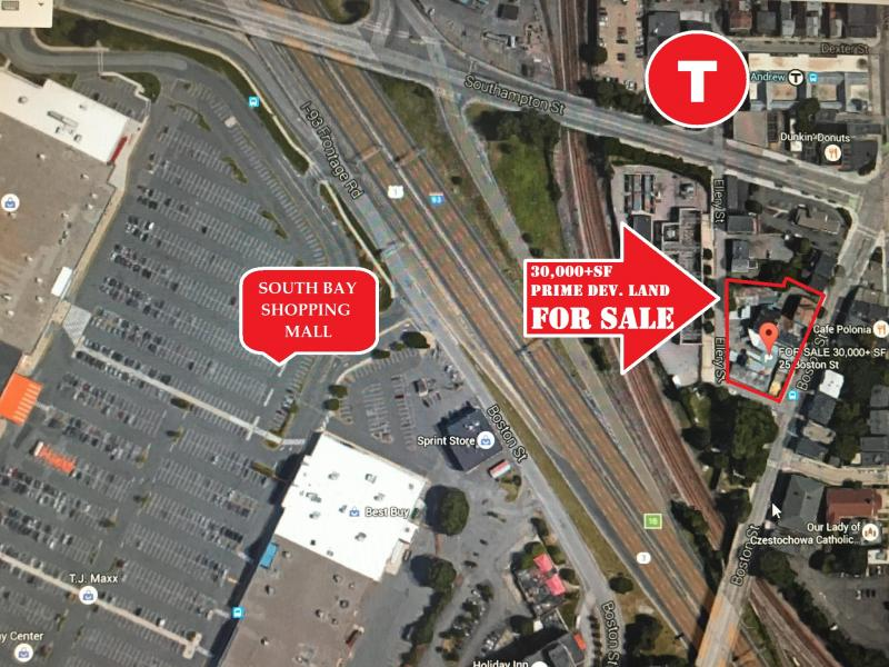 Building, development land, apartment building for sale in south Boston by train